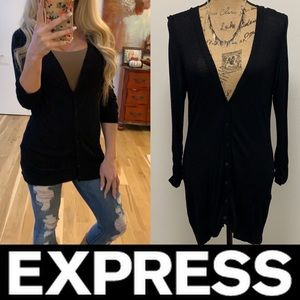 Express Button Down Cardigan